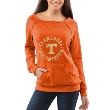 Tennessee Volunteers Women's Roundhouse Too Junior Vintage Boatneck Sweatshirt - Tennessee Orange