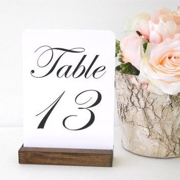 Table Number Holders, Rustic Table Number Holder - 5 inch (Set of 10)