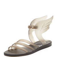 Ancient Greek Sandals Ikaria Winged Flat Jelly Sandal, Gray