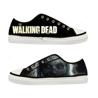 The Walking Dead Zombie Women Canvas Shoes - Sizes: US 5 6 7 8 9 - EUR 36 37 38 39 40