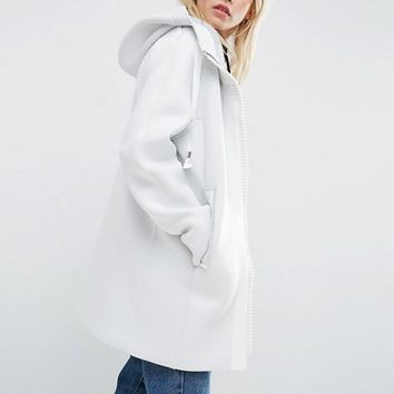 ASOS Bonded Jacket With Statement Zip at asos.com