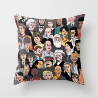 A HISTORIC GATHERING Throw Pillow by Zen Pencils | Society6