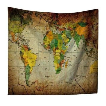 Classic World Map Tapestry
