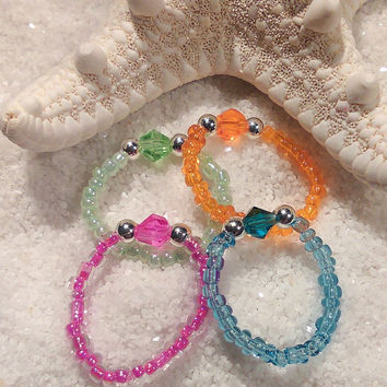 Crystal Seed Bead Toe Ring-Free Shipping-Buy-Foot Accessories - Foot Ring - Foot Jewelry -Toe Rings- Gifts Under 10-Get one Free