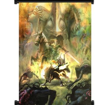 "1 X Legend of Zelda: Twilight Princess Game Fabric Wall Scroll Poster (16""x21"") Inches"