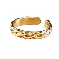 14k gold filled toe ring twisted wire 14/20