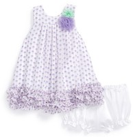 Infant Girl's Pippa & Julie Floral Chiffon Sleeveless Dress