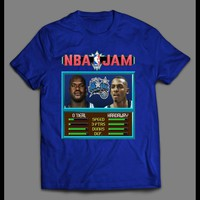 SHAQ AND PENNY BASKETBALL VIDEO GAME JAM PARODY BASKETBALL T-SHIRT