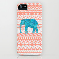 Elephant Blues iPhone & iPod Case by Girly Trend
