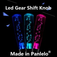 Gear Shift Knob Universal Shift Gear Knob Car Clear Purple Octagon Bubble Gear Shift Knob Shifter LED Light Car Shift