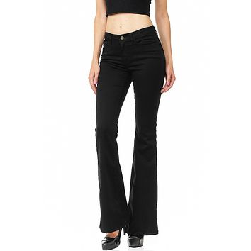 Column Bell Bottom Jeans
