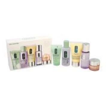 Daily Essentials Set - Dry Combination Skin By Clinique For Unisex - 5 Pc Set 1.7Oz Dramatically Dif