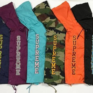 SPBEST Multi colored supreme windbreaker hoodie jackets