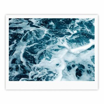 Stirred Ocean - Blue White Coastal Photography Fine Art Gallery Print