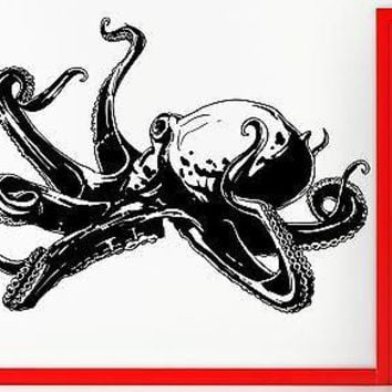 Wall Stickers Vinyl Decal Octopus Tentacles Scary Ocean Monster Decor  Unique Gift (z2318)