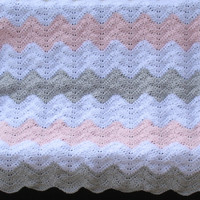 Pink, Gray, White Chevron Baby Blanket, Chevron Nursery Theme, Baby Shower Gift, Crib or Carseat Blanket