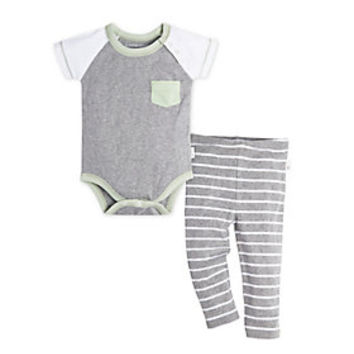 Baby Pocket Raglan Organic Cotton Bodysuit and Footless Pant Set