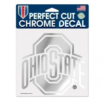 Ohio State Buckeyes Decal 6x6 Perfect Cut Chrome
