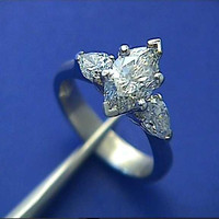 2.05ct Marquise Shape Diamond Engagement Ring EGL certified JEWLFORME BLUE