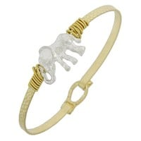 Gold and Silver Elephant Bangle