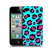 HEAD CASE CYAN LEOPARD MAD PRINT DESIGN BACK CASE COVER FOR APPLE iPHONE 4 4S