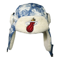 NBA Miami Heat Acid Washed Denim Trapper Hat