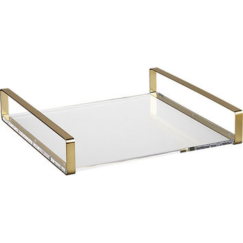 mirage acrylic and brass tray
