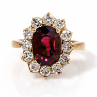 8.15ct Ruby Diamond Gold Ring