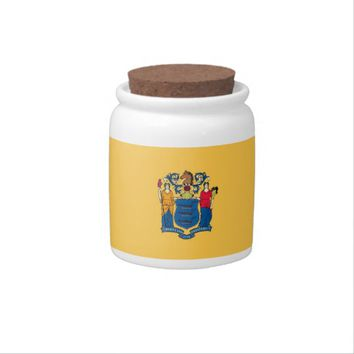 New Jersey State Flag Candy Jar