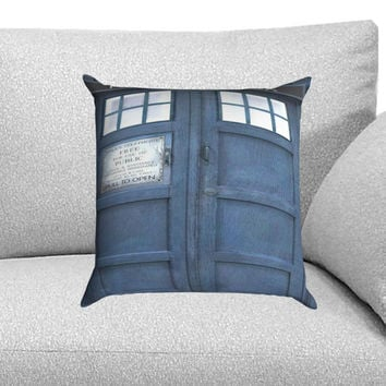 Doctor Who The Tardis Custom Pillow Case for One Side and Two Side