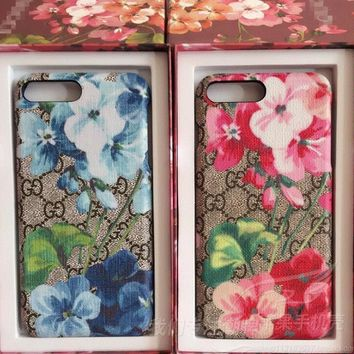 GUCCI Bee flower iPhone Phone Cover Case For iphone 6 6s 6plus 6s-plus 7 7plus-2