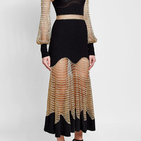 Wool Dress with Metallic Thread - Alexander McQueen | WOMEN | US STYLEBOP.COM