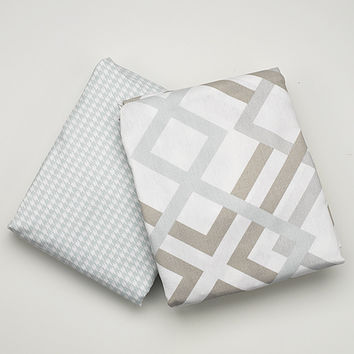 Easton and Seafoam Houndstooth 2-pc. Crib Bedding