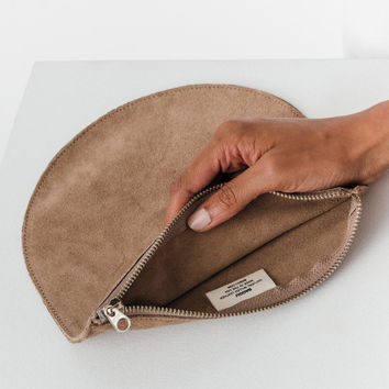 Large Suede Pouch: Dune