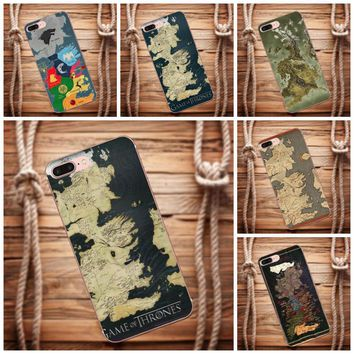 Vvcqod Westeros Map Game Thrones For Galaxy Alpha Core Prime Note 4 5 8 S3 S4 S5 S6 S7 S8 S9 mini edge Plus Soft New Arrival