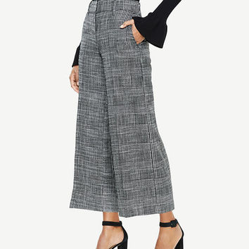 The Wide Leg Crop Pant in Herringbone | Ann Taylor