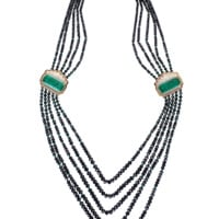 Emerald Beaded Necklace | Marissa Collections