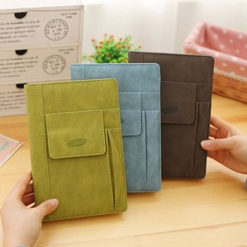 Record the mood leather notebook Creative Business multifunctional diary planner agenda  filofax a5 note book Notepad cuadernos