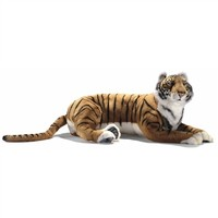 Handcrafted 40 Inch Lifelike Big Bengal Tiger Stuffed Animal by Hansa