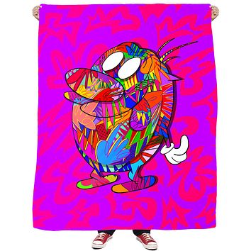 Stimpy Fleece Blanket