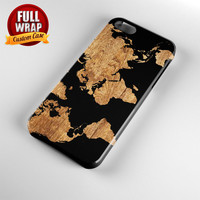 World Map Wood Full Wrap Phone Case For iPhone, iPod, Samsung, Sony, HTC, Nexus, LG, and Blackberry