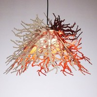 Supermarket - Abstraction pendant light (winter branches/red and white) from Perhacs Studio