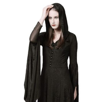The Hooded Witch Cloak Dress