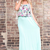 Luxe Resort Maxi Skirt - Mint