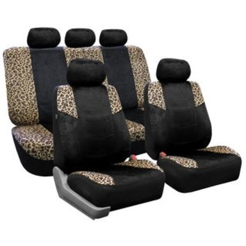 FH Group Leopard Print Airbag-safe Car Seat Covers (Full Set) - Free Shipping Today - Overstock.com - 15622775 - Mobile