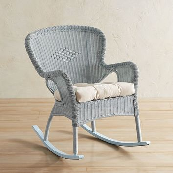 Coco Cove Light Blue Rocking Chair