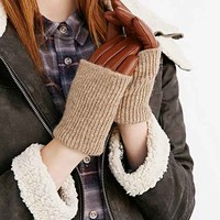 Knit + Leather Combo Glove-