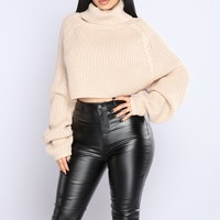 Eudora Bow Sweater - Beige
