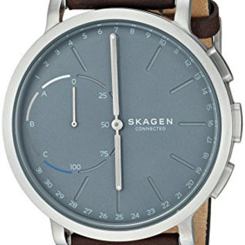 Skagen Hagen Connected Leather Hybrid Smartwatch