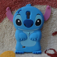 New Cute Chic Blue Monster Samsung Galaxy S4 i9500 Case